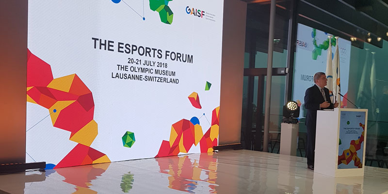 ARISF President Raffaele Chiulli speaks at the Esports Forum